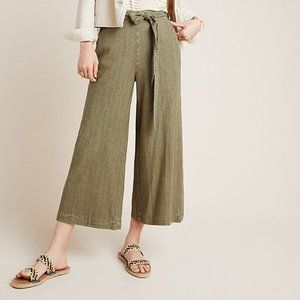 Anthropologie Overdyed Cropped Wide-Leg Trousers